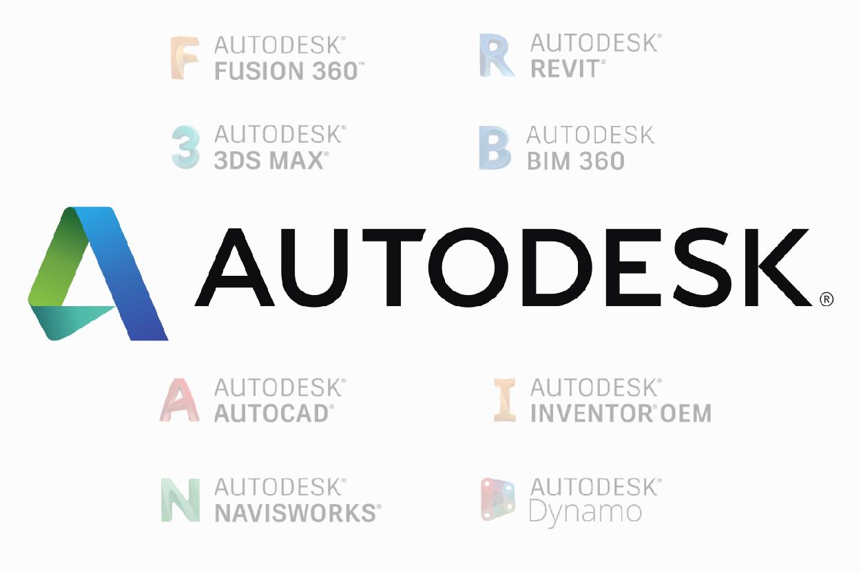 Autodesk, Revit, Autocad, Inventor, 3ds max, Fusion 360, Dynamo, Navisworks, Bim 360